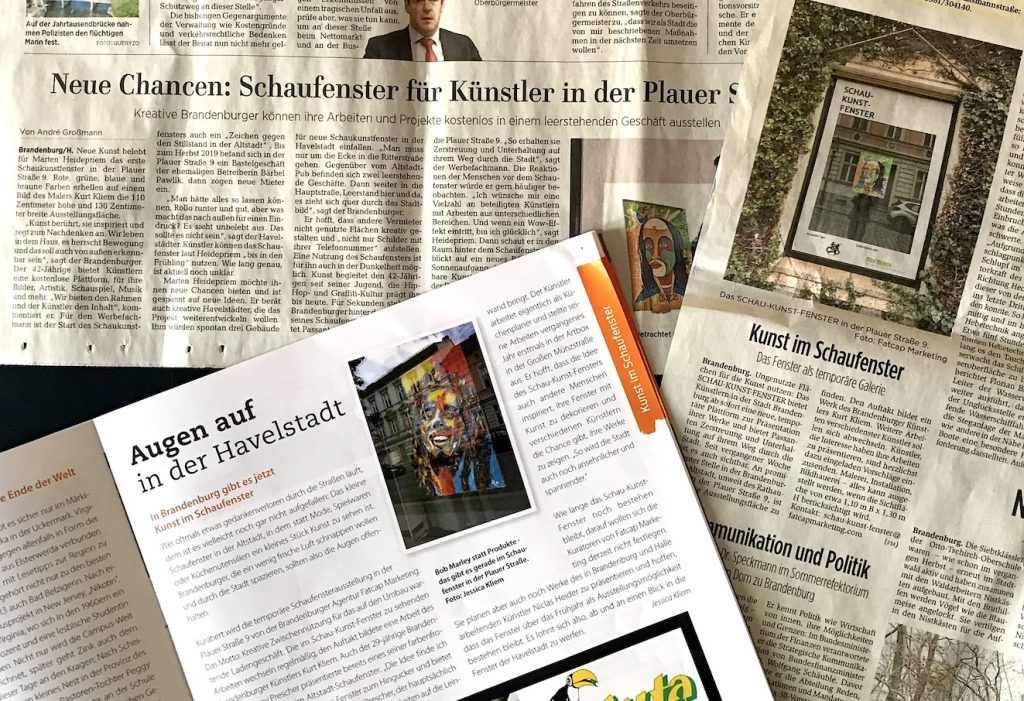 Schau-Kunst-Fenster in den Medien